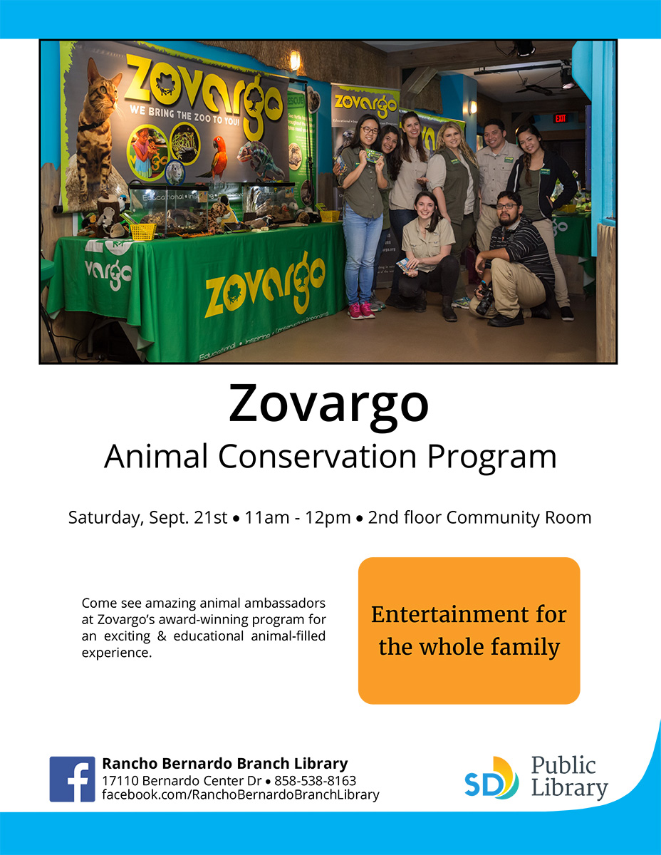 Poster for Zavargo Animal Conservation Program