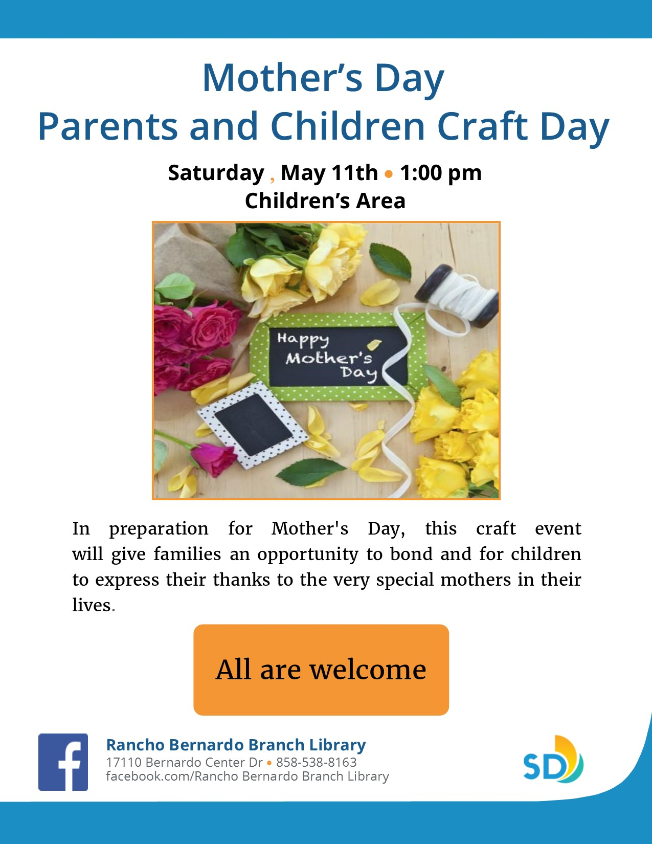 Mother's Day Craft Event Flyer