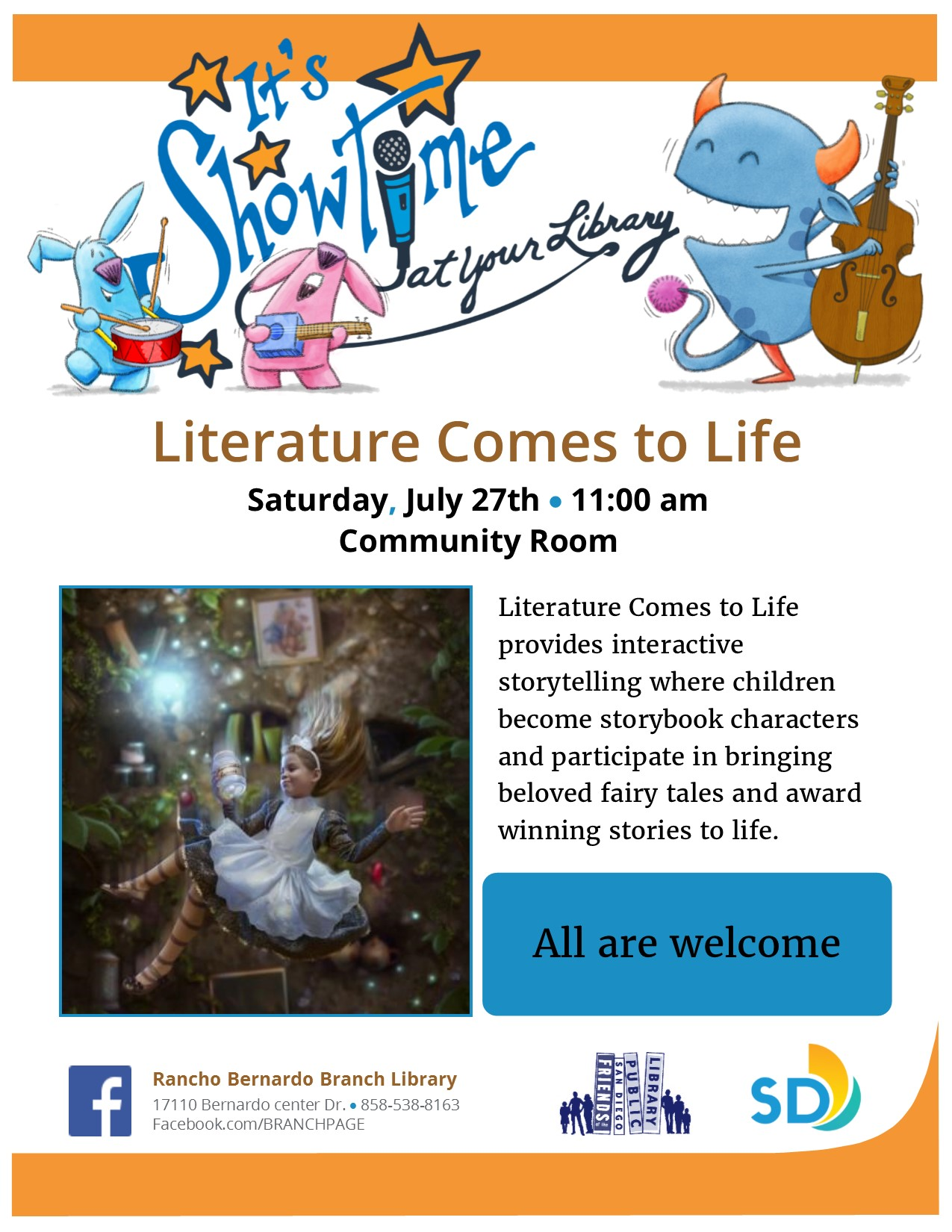 SRP 2019 Literature comes to life flyer