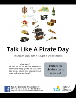 Poster for Talk Like a Pirate day