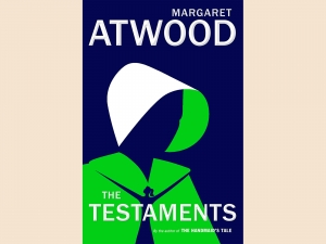 "The cover of ""The Testaments"" by Margaret Atwood"