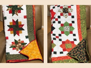 Two handmade quilts to be sold to benefit the library