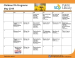 May Children and Young Adult Calendar