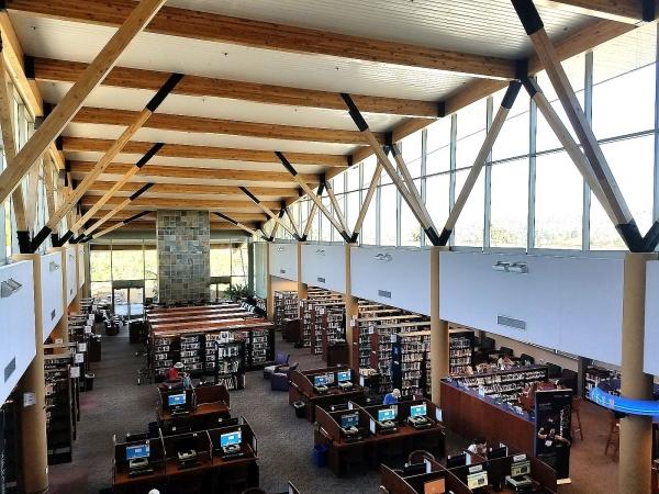 Main Room of the Rancho Bernardo Library