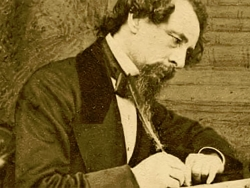 Drawing of Charles dickens Writing